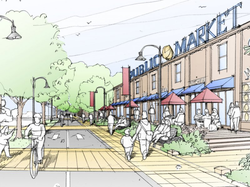Indiana Ave Promenade & Public Market Eye Level Sketch (4.6.11)
